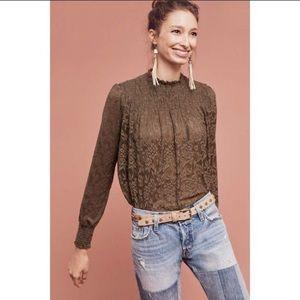 NWT Deletta Anthropologie blouse turtleneck SP